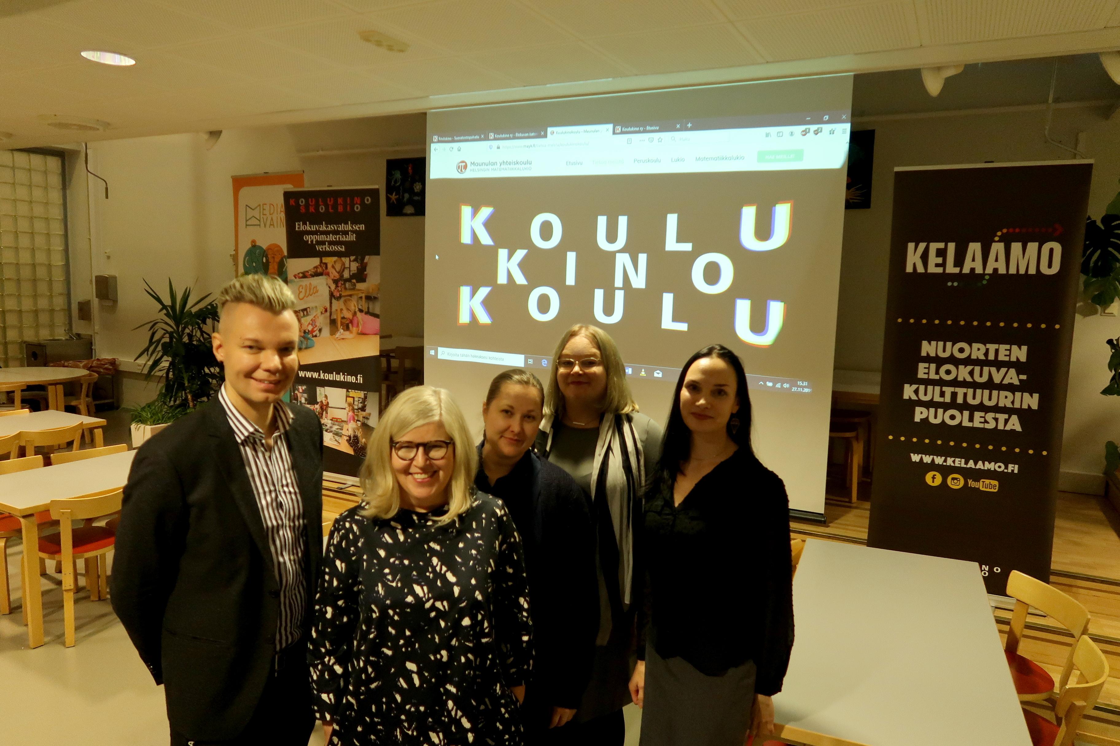 Olemme Suomen ensimmäinen koulukinokoulu